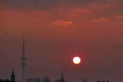 sundown in early February