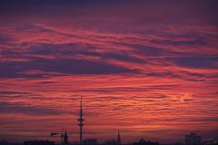 Hamburg bloody sky